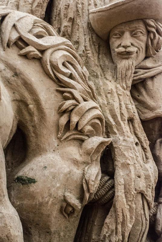 Ein Detail vom sandskulpturen festival in rügen