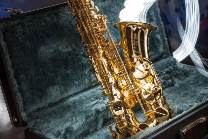 Saxophon Langzeitbelichtung und Lightpainting