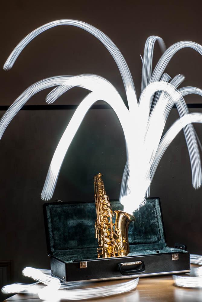 Saxophon Langzeitbelichtung
