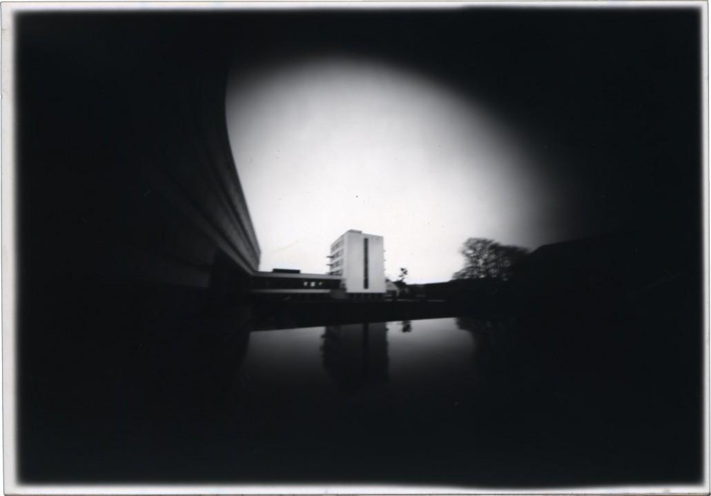 Meine Camera Obscura war eine alte Schiefermappe