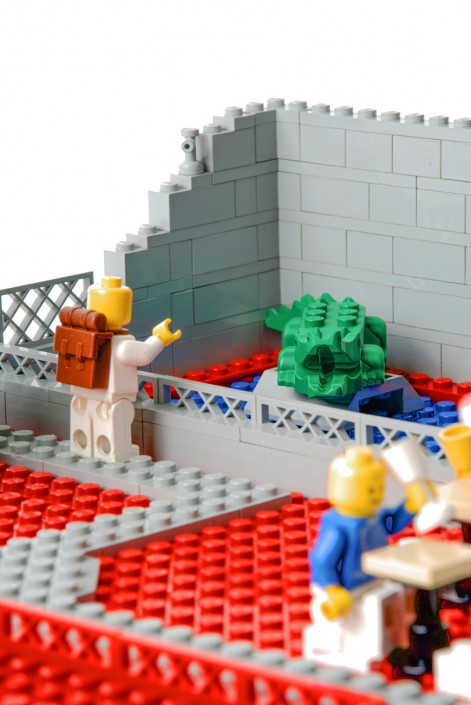 Lego Krokodil im Lego Zoo - Fotografie zum Thema Mensch und Tier