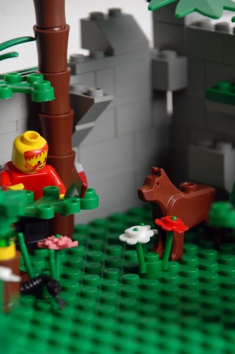 Mensch und Tier - Der Förster iM Wald