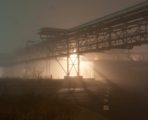 Fotografie der Industrieanlagen in Bitterfeld Wolfen