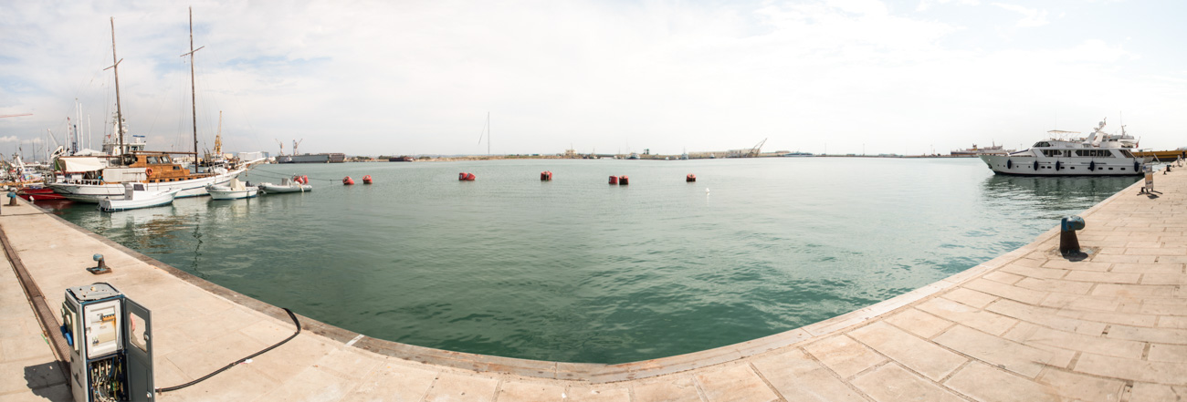 Hafen in Trapani Panorama