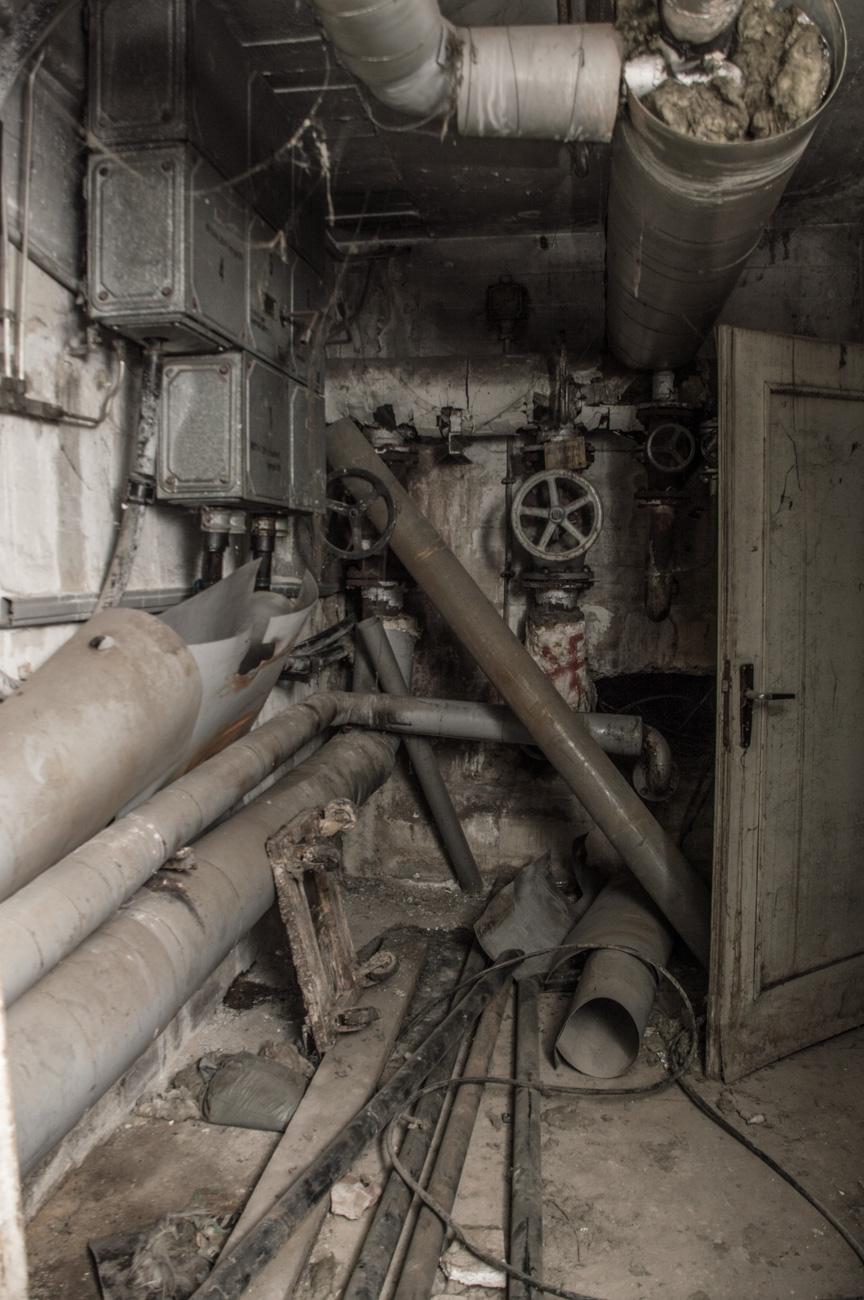 Der Maschinenraum in Dessau bei der Urban Exploration